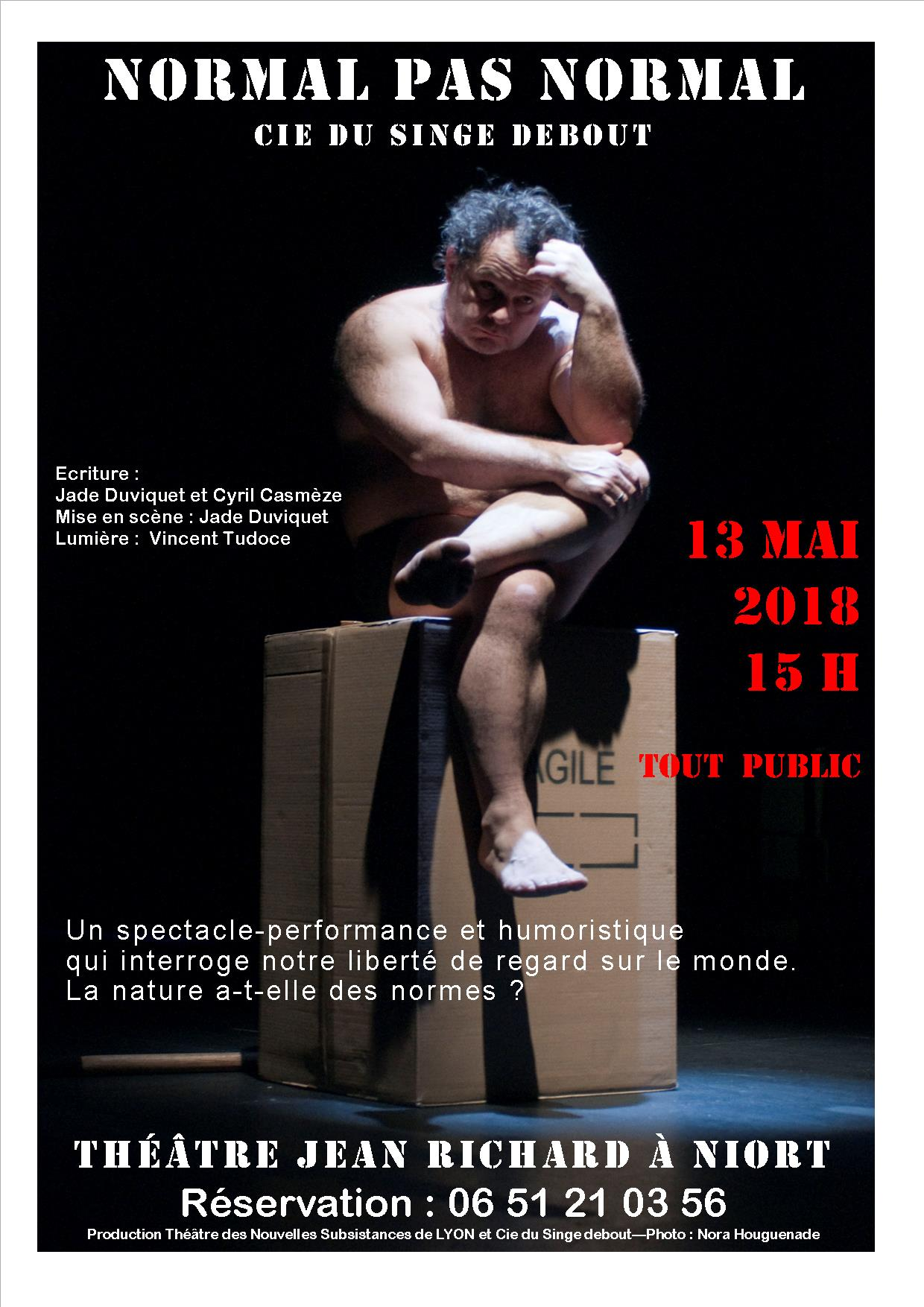 Tract spectacle pour affiche